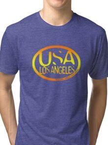 usa los angeles orange tshirt by rogers bros co Tri-blend T-Shirt
