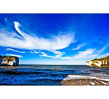 Crane Over Flamborough Head Photographic Print