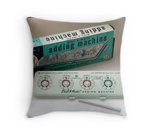 "Sterling ""add-it"" Dial-a-matic Adding Machine Throw Pillow"