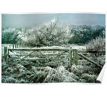The Frosty Fence Poster
