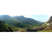 Nant Ffrancon Panorama Photographic Print