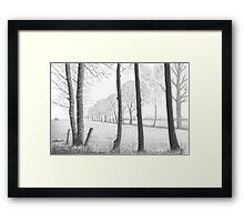WINTER IN THE DUTCH COUNTRY SIDE PEIZE - PEN DRAWING Framed Print