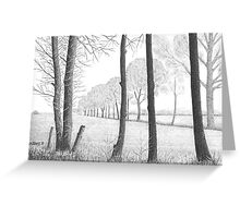 WINTER IN THE DUTCH COUNTRY SIDE PEIZE - PEN DRAWING Greeting Card