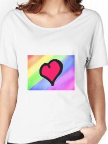 Lovely Heart Women's Relaxed Fit T-Shirt