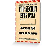 Top Secret Eyes Only Greeting Card