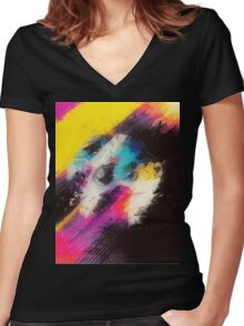 Power Up Women's Fitted V-Neck T-Shirt