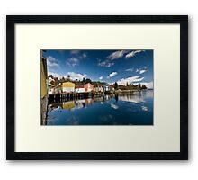 Fishing Sheds Framed Print