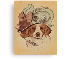 fancy pants hat Canvas Print