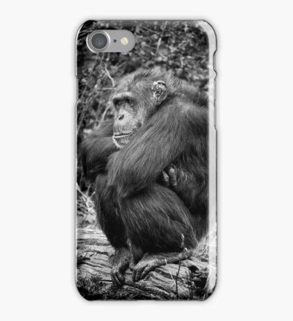 Sulking Chimp! iPhone Case/Skin