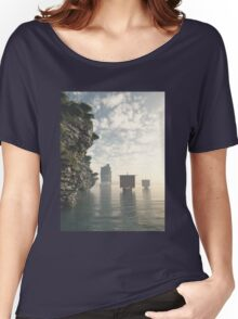 Viking Longships in Unknown Waters Women's Relaxed Fit T-Shirt