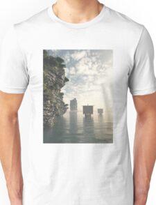 Viking Longships in Unknown Waters Unisex T-Shirt
