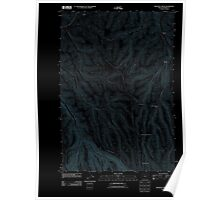 USGS Topo Map Oregon Freezeout Ridge 20110903 TM Inverted Poster