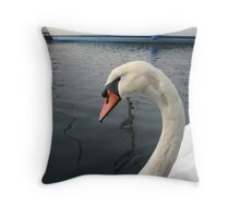 Lovely Baby Swan Throw Pillow