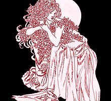 Black Roses by redqueenself