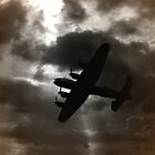 Lancaster  in a stormy sky  by larry flewers