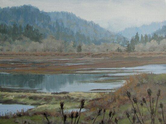 Winter Pond by Karen Ilari