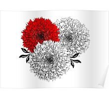 Big Pom Pom Blooming Flowers Poster