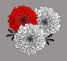 Big Pom Pom Blooming Flowers by Artification