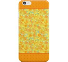 Watercolour Golden Daffodils and Polka Dots iPhone Case/Skin