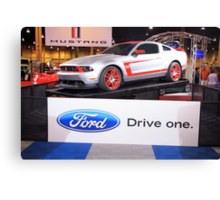 Race car with a license plate: Ford Boss 302 Leguna Seca - DRIVE ONE Canvas Print