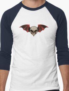 Winged Halloween Skull Men's Baseball ¾ T-Shirt