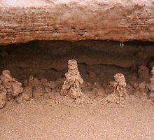 Drip sand sculptures by tanmari