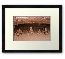 Drip sand sculptures Framed Print