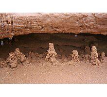 Drip sand sculptures Photographic Print