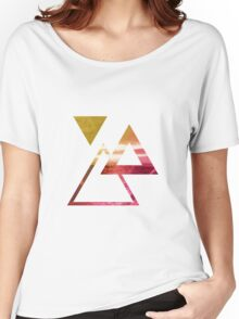 Ocean Tri (Yellow/Pink) Women's Relaxed Fit T-Shirt