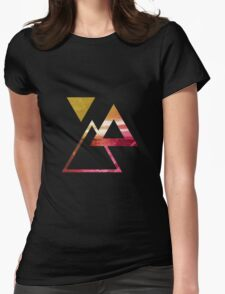 Ocean Tri (Yellow/Pink) Womens Fitted T-Shirt
