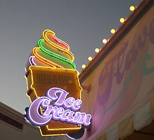 Ice Cream in Neon by Alex Simpson