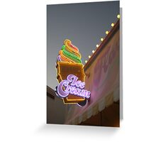 Ice Cream in Neon Greeting Card