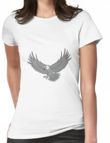 Eagle Flying Womens Fitted T-Shirt
