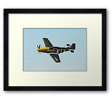 Mustang fighter plane Framed Print