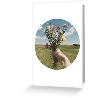 Vintage Flower Photo Greeting Card