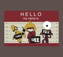 trendeefux: Hello my name is mugshot (cranberry) by By  David Valentine