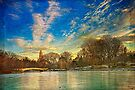 Central Park, Bow Bridge In Winter by Chris Lord