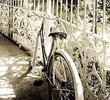 Back in Times - Gardens - Old Raleigh bicycle by Carole Anne Ferris