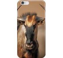 Blue wildebeest portrait iPhone Case/Skin