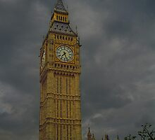 Big Ben During Storm by Dave Storym