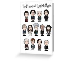 The Friends of English Magic (card/poster/notebook) Greeting Card