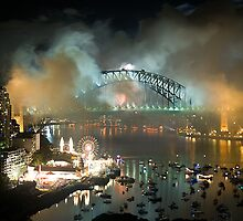 The Carnival Is Over - Sydney New Years Eve 2010 by Philip Johnson