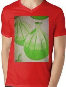 Retro Passionfruit Mens V-Neck T-Shirt