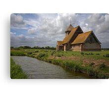 The church at Fairfield, Romney Marsh, Kent Canvas Print