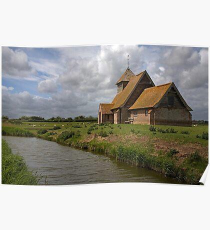 The church at Fairfield, Romney Marsh, Kent Poster