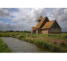 The church at Fairfield, Romney Marsh, Kent Photographic Print