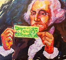 George with a dollar by Rancano