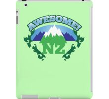 AWESOME NZ (New Zealand) with mountains and tattoo version map iPad Case/Skin