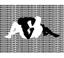 Mixed Martial Arts MMA Kimura Arm Lock Photographic Print