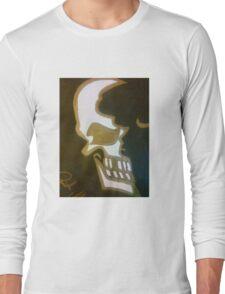 Half skull Long Sleeve T-Shirt